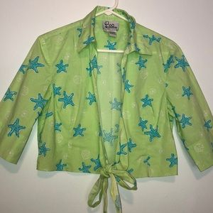 Lilly Pulitzer beach cover up | crop jacket